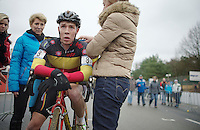 Belgian National U23 Champion Laurens Sweeck (BEL) post-race<br /> <br /> UCI Worldcup Heusden-Zolder Limburg 2013