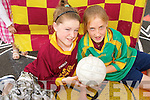 ON THE BALL: Eibhlish Dillon and Sorcha McNulty eho will be representing Kerry in the Mini 7s cometitions which taker place at half time during the All ireland Senior football championship semi final this summer..