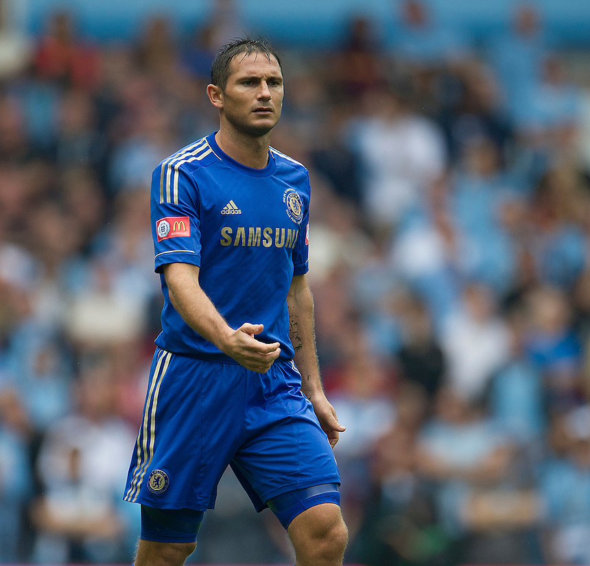 Chelsea's Frank Lampard ..Football Friendly - FA Community Shield - Chelsea v Manchester City - Sunday 12th August 2012 - Villa Park - Birmingham..