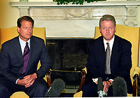 Clinton and Gore Meet Reporters on Iraqi Situation