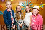 Enjoying the Caherleaheen NS Fashion Show at Ballyroe Hotel on Thursday were Emma Lynch, Amelia Groshnik, Sophie O Donoghue and Sive Cadogan