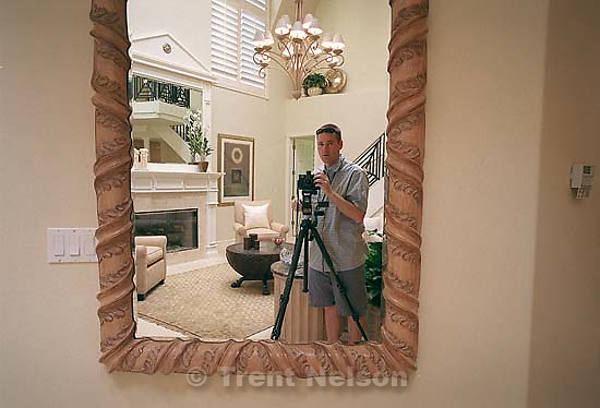 Trent Nelson in mirror. Interiors for Richardson<br />