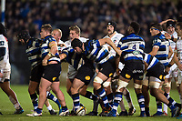 Bath Rugby forwards after a strong scrum. Anglo-Welsh Cup match, between Bath Rugby and Leicester Tigers on November 10, 2017 at the Recreation Ground in Bath, England. Photo by: Patrick Khachfe / Onside Images