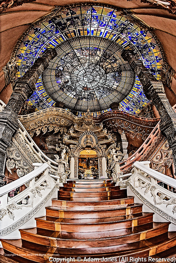 The Stairway to Heaven, Erawan Museum in Samut Prakan, southeast of Bangkok, Thailand.