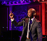 "Donald Webber Jr. on stage during a Song preview performance of the BeBe Winans Broadway Bound Musical ""Born For This"" at Feinstein's 54 Below on November 5, 2018 in New York City."