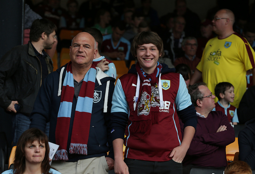 Burnley fans before the kick off<br /> <br /> Photographer Stephen White/CameraSport<br /> <br /> Football - Capital One Cup First Round - Port Vale v Burnley - Tuesday 11th August 2015 - Vale Park - Burslem<br /> <br /> Football - UEFA Europa League Qualifying Third Round First Leg - West Ham United v Astra Giurgiu - Thursday 30 July 2015 - Boleyn Ground - London<br /> <br /> &copy; CameraSport - 43 Linden Ave. Countesthorpe. Leicester. England. LE8 5PG - Tel: +44 (0) 116 277 4147 - admin@camerasport.com - www.camerasport.com<br />  <br /> &copy; CameraSport - 43 Linden Ave. Countesthorpe. Leicester. England. LE8 5PG - Tel: +44 (0) 116 277 4147 - admin@camerasport.com - www.camerasport.com
