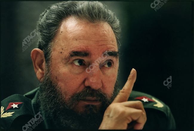 Fidel Castro, President of Cuba, at the Presidential Palace. Havana, Cuba, February 1995<br />