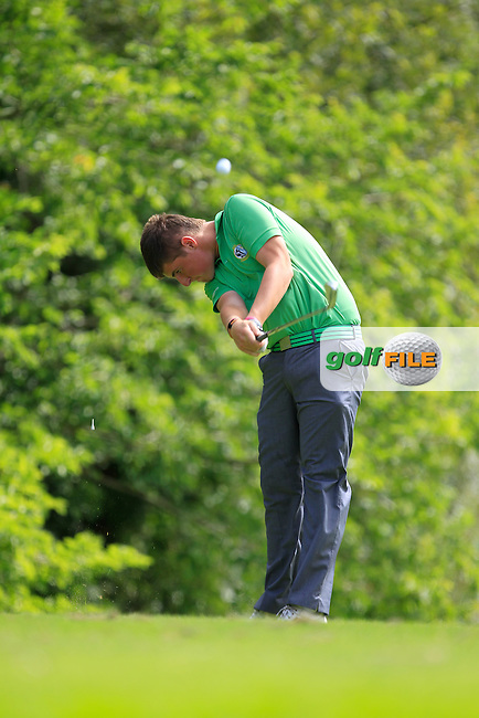 Michael Shiel (Connacht) on the 4th tee during the Boys Under 15 Interprovincial Championship Afternoon Round at the West Waterford Golf Club on Wednesday 22nd August 2013 <br /> Picture:  Thos Caffrey/ www.golffile.ie