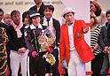 Kanpei Hazama, JANUARY 22, 2011 : Japanese Comedian Kanpei Hazama finishes earth-marathon in Osaka, Japan. He ran around the world. (Photo by Atsushi Tomura/AFLO SPORT) [1035]