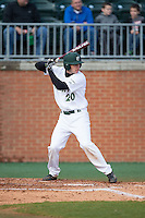 Nick Daddio (20) of the Charlotte 49ers at bat against the Florida Atlantic Owls at Hayes Stadium on March 14, 2015 in Charlotte, North Carolina.  The Owls defeated the 49ers 8-3 in game one of a double header.  (Brian Westerholt/Four Seam Images)