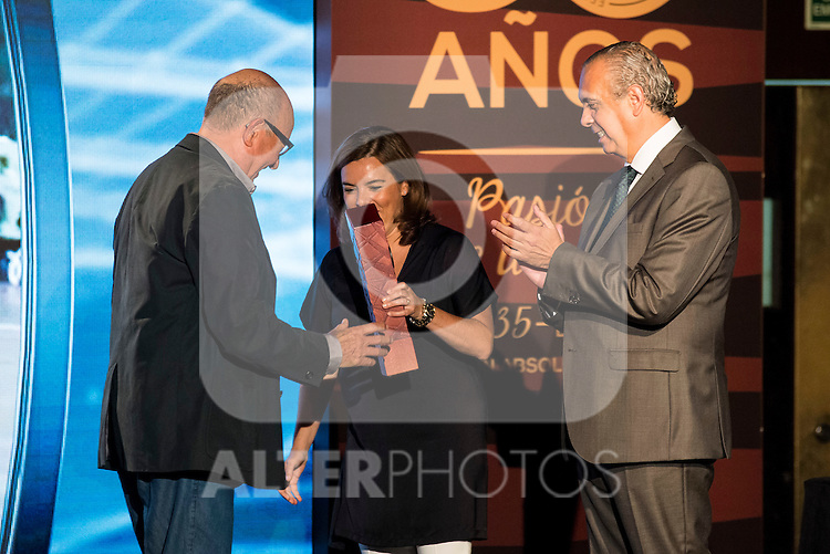Francesc Buscat&oacute; during the 80th Aniversary of the National Basketball Team at Melia Castilla Hotel, Spain, September 01, 2015. <br /> (ALTERPHOTOS/BorjaB.Hojas)