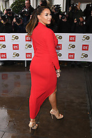 Jessica Wright<br /> arriving for the TRIC Awards 2019 at the Grosvenor House Hotel, London<br /> <br /> ©Ash Knotek  D3487  08/03/2019