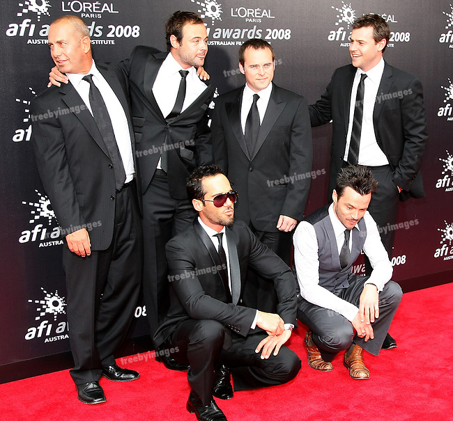 The cast of Underbelly on the Red Carpet at the 2008 AFI Awards from the Princess Theatre Melbourne Saturday 6th December 2008