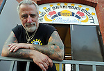 Paul Cichon, Director of Boxing at Ring of Champions Society, Wednesday, July 20, 2011, on Main Street in Manchester. (Jim Michaud/Journal Inquirer)