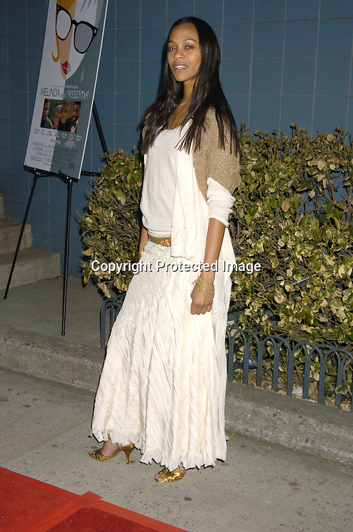 "Zoe Saldana ..at Director Woody Allen's  ""Melinda and Melinda"" New York special screening on March 16, 2005 at the Chelsea West Cinemas. ..Photo by Robin Platzer, Twin Images"