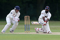A Zaidi in batting action for Ilford during Wanstead and Snaresbrook CC vs Ilford CC, Shepherd Neame Essex League Cricket at Overton Drive on 17th June 2017