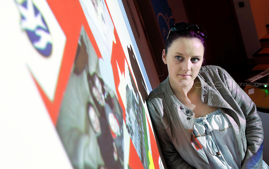 "***NO FEE PIC***.27/09/2011.Clare King from Kiltimagh who recieved beside her piece on Social injustice in the Irish Welfare System .during a "" Your Rights Right  now""/ Youthreach competition prizegiving award ceremony at the Office of the Ombudsman for Children, Dublin. The competition called on young Youthreach students to express themselves about the important human rights issues affecting their lives..Photo: Gareth Chaney Collins"