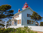 Yaquina Bay State Recreation Site, Newport, OR<br /> Yaquina Bay Lighthouse on the mouth of the Yaquina River in Newport