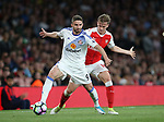 Arsenal's Rob Holding tussles with Sunderland's Fabio Borini during the Premier League match at the Emirates Stadium, London. Picture date: May 16th, 2017. Pic credit should read: David Klein/Sportimage