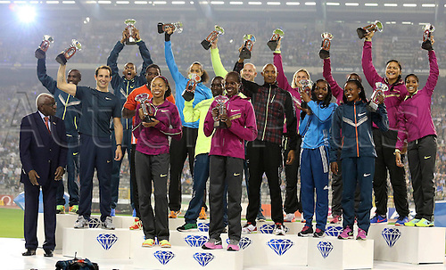 05.09.2014. Brussels, Belgium. 2014 IAAF Diamond League Meeting 05 09 2014 King Baudouin Stadium Brussels Belgium Award Ceremony