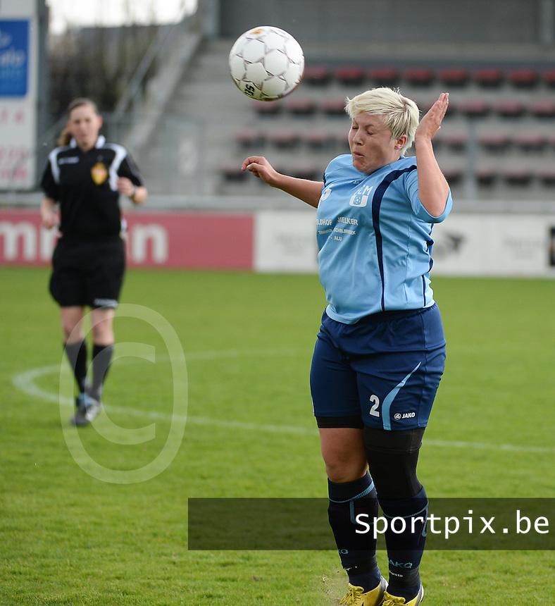 Finale Beker van West-Vlaanderen Dames : FC Menen United - KEG Gistel : Celine Gonce <br /> foto VDB / BART VANDENBROUCKE
