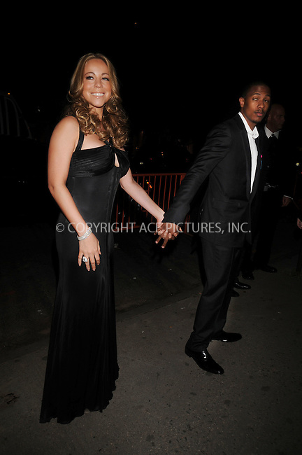 WWW.ACEPIXS.COM . . . . . ....October 20 2008, New York City....Singer Mariah Carey and her husband Nick Cannon arriving at an event in midtown Manhattan on October 20 2008 in New York City....Please byline: KRISTIN CALLAHAN - ACEPIXS.COM.. . . . . . ..Ace Pictures, Inc:  ..(646) 769 0430..e-mail: info@acepixs.com..web: http://www.acepixs.com