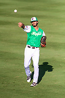 Jackson Generals outfielder Ben DeLuzio (41) warms up in the outfield prior to a Southern League game against the Biloxi Shuckers on July 27, 2018 at The Ballpark at Jackson in Jackson, Tennessee. Biloxi defeated Jackson 15-7. (Brad Krause/Four Seam Images)