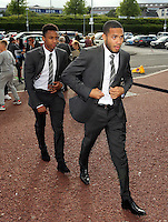 Pictured: Kenji Gorre arrives Wednesday 20 May 2015<br /> Re: Swansea City FC Awards Dinner at the Liberty Stadium, south Wales, UK