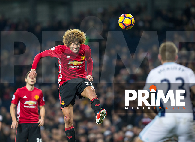 Marouane Fellaini of Manchester United during the EPL - Premier League match between West Bromwich Albion and Manchester United at The Hawthorns, West Bromwich, England on 17 December 2016. Photo by Andy Rowland / PRiME Media Images.