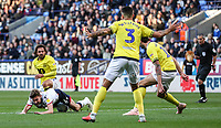 Bolton Wanderers' Joe Williams is brought down  by Blackburn Rovers' Bradley Dack<br /> <br /> Photographer Andrew Kearns/CameraSport<br /> <br /> The EFL Sky Bet Championship - Bolton Wanderers v Blackburn Rovers - Saturday 6th October 2018 - University of Bolton Stadium - Bolton<br /> <br /> World Copyright &copy; 2018 CameraSport. All rights reserved. 43 Linden Ave. Countesthorpe. Leicester. England. LE8 5PG - Tel: +44 (0) 116 277 4147 - admin@camerasport.com - www.camerasport.com