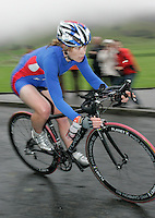 16 JUN 2007 - EDINBURGH, UK - Catriona Morrison (GBR) on her way to taking the Elite Womens title - EUROPEAN DUATHLON CHAMPIONSHIPS. (PHOTO (C) NIGEL FARROW)