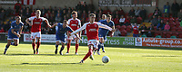 Fleetwood Town's Ashley Hunter scores his side's second goal from the penalty spot in the last minute of the match to earn his side a 2-2 draw<br /> <br /> Photographer Stephen White/CameraSport<br /> <br /> The EFL Sky Bet League One - Fleetwood Town v Oldham Athletic - Saturday 9th September 2017 - Highbury Stadium - Fleetwood<br /> <br /> World Copyright &copy; 2017 CameraSport. All rights reserved. 43 Linden Ave. Countesthorpe. Leicester. England. LE8 5PG - Tel: +44 (0) 116 277 4147 - admin@camerasport.com - www.camerasport.com
