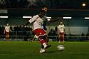 Don Cowan of Stevenage shoots.Rochdale v Stevenage - npower League 1 - Spotland, Rochdale - 14th January, 2012.© Kevin Coleman 2012