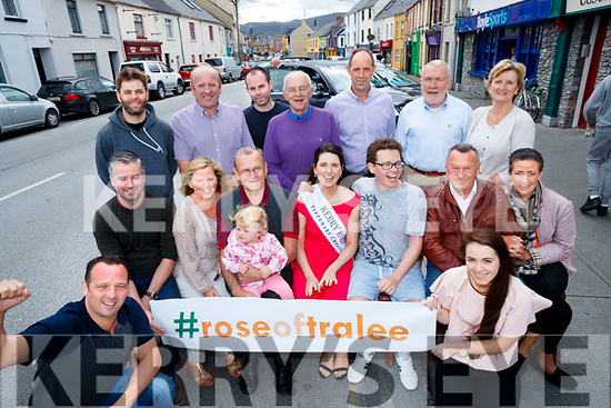 Pictured at the launch of the Kerry Rose Pub Twinning on Tuesday last were front l-r: Mark O'Sullivan (An Cearnog), Finbarr Canty and George Savage (The Blasket Bar), Lorna O'Sullivan, Adrian O'Sullivan (The Castle Bar), Fiadh O'Sullivan, Breda O'Mahony (Kerry Rose), Eoin O'Sullivan, Richie Houlihan (An Shebeen), Aileen Assad (No. 4 On The Square) and Grainne Linnane (Linnane's Bar.) Back l-r: Conor O'Donnell (Bailey's Corner), John McElligott (Sean Og's), Conor Linnane (Linnane's Bar), John O'Sullivan (The Munster Bar), Bernard Cassidy (An Teach Beag), Mary Fuller and Sean Fuller (Betty's Bar, Strand Road).