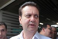 SAO PAULO, 29 DE MARÇO DE 2012. MONOTRILHO LINHA 17 - OURO  . o Prefeito Gilberto Kassab  participam da cerimônia de assinatura da Autorização para o início das obras do monotrilho do metrô  da Linha 17 - ouro que ligará o aeroporto de Congonhas ao Morumbi na estação Morumbi da CPTM . FOTO: ADRIANA SPACA - BRAZIL PHOTO PRESS