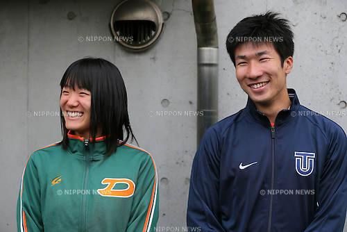 (L to R) <br /> Anna Doi, <br /> Yoshihide Kiryu, <br /> APRIL 13, 2014 - Athletics : <br /> The 8th Iwakabe Cup <br /> at Kamiyugi Park Athletic Stadium, Tokyo, Japan. <br /> (Photo by YUTAKA/AFLO SPORT)