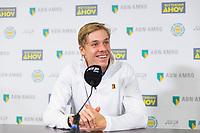 Rotterdam, The Netherlands, 12 Februari 2019, ABNAMRO World Tennis Tournament, Ahoy, Press Conference, Denis Shapovalov (CAN),<br /> Photo: www.tennisimages.com/Henk Koster
