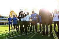 A general view of half-time entertainment. Aviva Premiership match, between Bath Rugby and Harlequins on October 31, 2015 at the Recreation Ground in Bath, England. Photo by: Robbie Stephenson / JMP for Onside Images