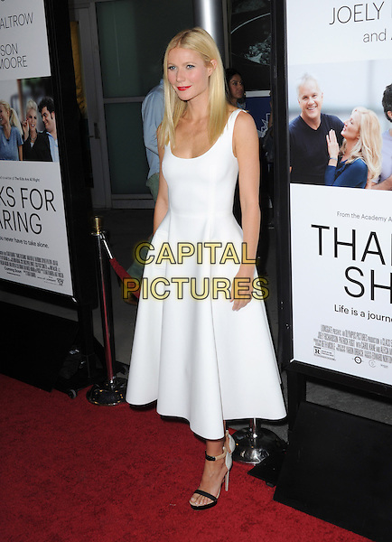 Gwyneth Paltrow<br /> &quot;Thanks For Sharing&quot; Los Angeles Premiere held at Arclight Cinemas, Hollywood, California, USA.          <br /> September 16th, 2013<br /> full length white dress sleeveless <br /> CAP/DVS<br /> &copy;DVS/Capital Pictures