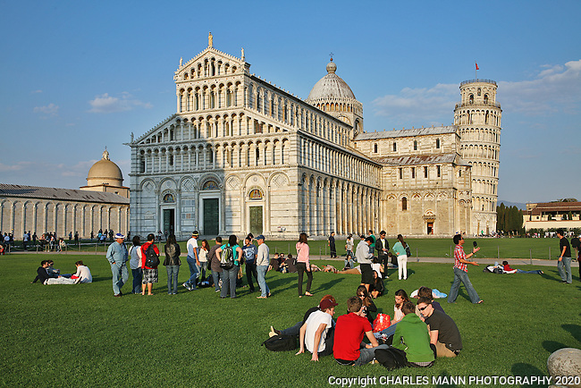 The Leaning Tower of Pisa is part of a complex including the cathedral and baptistry.