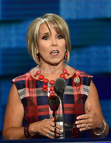 United States Representative Michelle Lujan Grisham (Democrat of New Mexico) makes remarks during the third session of the 2016 Democratic National Convention at the Wells Fargo Center in Philadelphia, Pennsylvania on Wednesday, July 27, 2016.<br /> Credit: Ron Sachs / CNP/MediaPunch<br /> (RESTRICTION: NO New York or New Jersey Newspapers or newspapers within a 75 mile radius of New York City)