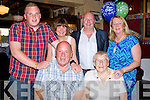 60th: Ollie Mann who celebrated his 60th birthday in McMunns Bar & Restaurant, Ballybunion on Saturday evening with his family. Front l-r: Ollie and Mary Mann. Back l-r: Paddy,Olive,Bernard and David Mann.