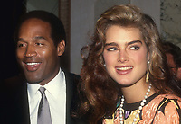 #OJ Simpson #BrookeShields 1982<br /> Photo By John BarrettPHOTOlink.net