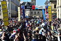 ROUBAIX, FRANCE - APRIL 9 : start<br /> during the 115th UCI World Tour Paris - Roubaix cycling race with start in Compiegne and finish at the Velodrome Andre-Petrieux in Roubaix on April 09, 2017 in Roubaix, France, 9/04/2017 <br /> Foto Insidefoto <br /> ITALY ONLY