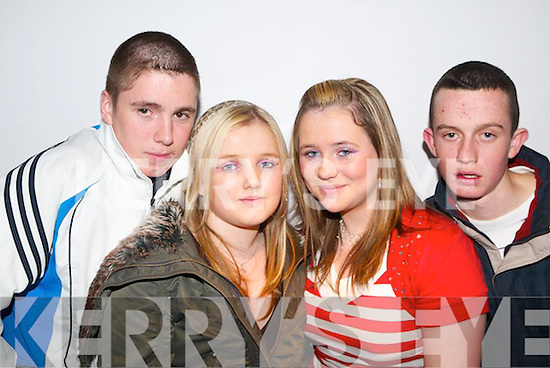 Having a great night at the Horans Teenage Disco on Wednesday were James OSullivan , Selina Morris Ashling Spillane  and Thomas Conway all from Tralee..
