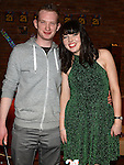 James Murray celebrating his 21st birthday in McHugh's with girlfriend Natalie Leddy. Photo: Colin Bell/pressphotos.ie
