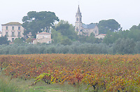 Church in the Montpeyroux district, probably Lagamas. Languedoc. France. Europe.