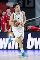 Real Madrid´s Sergio Llull during 2014-15 Euroleague match between Real Madrid and Crvena Zvezda Telekom Belgrade at Palacio de los Deportes stadium in Madrid, Spain. February 26, 2015. (ALTERPHOTOS/Luis Fernandez) /NORTEphoto.com