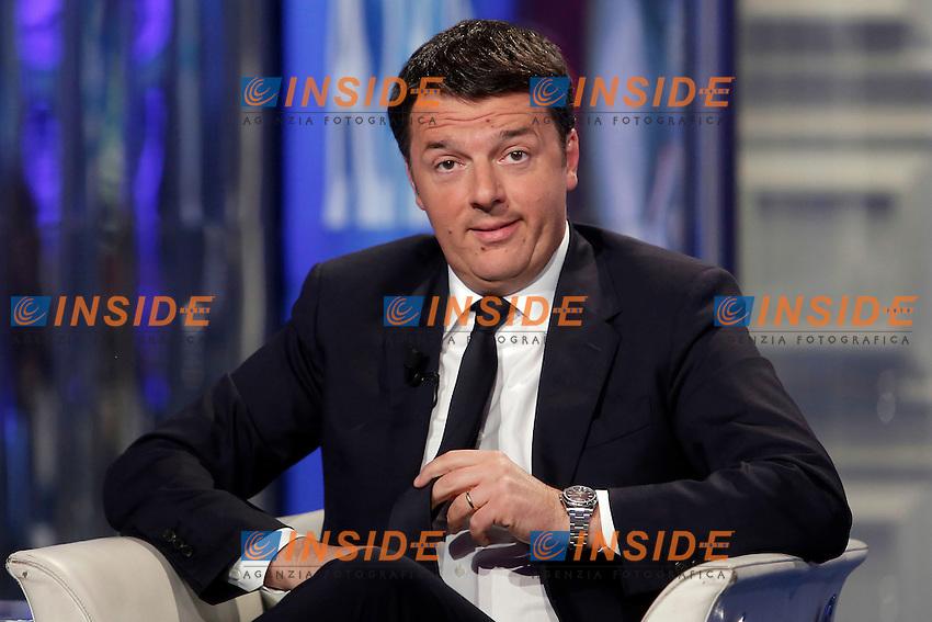 Matteo Renzi<br /> Roma 12-05-2016. Trasmissione Tv 'Porta a Porta' sulla Rai.<br /> Rome 12th May 2016. Tv talk show Porta a Porta.<br /> Photo Samantha Zucchi Insidefoto