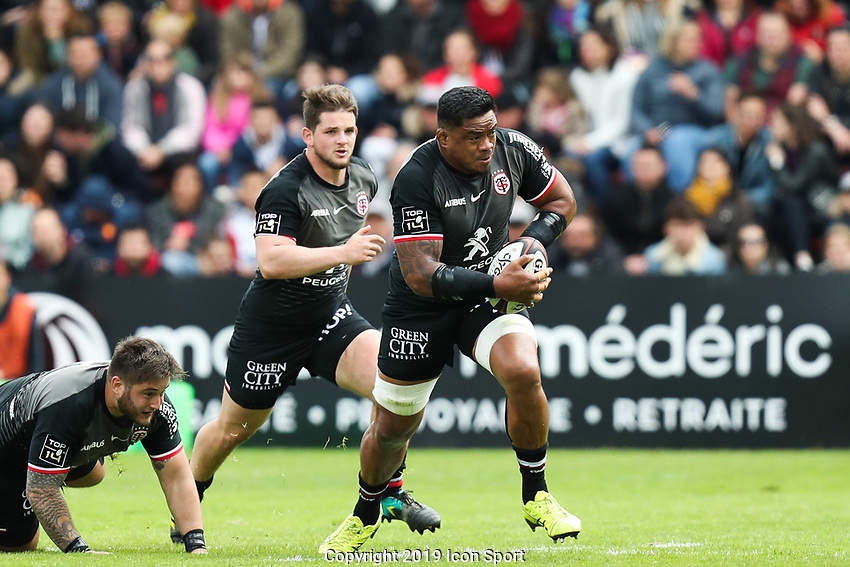 Iosefa Tekori of Toulouse during the Top 14 match between Toulouse and Pau at Stade Ernest Wallon on May 4, 2019 in Toulouse, France. (Photo by Manuel Blondeau/Icon Sport)